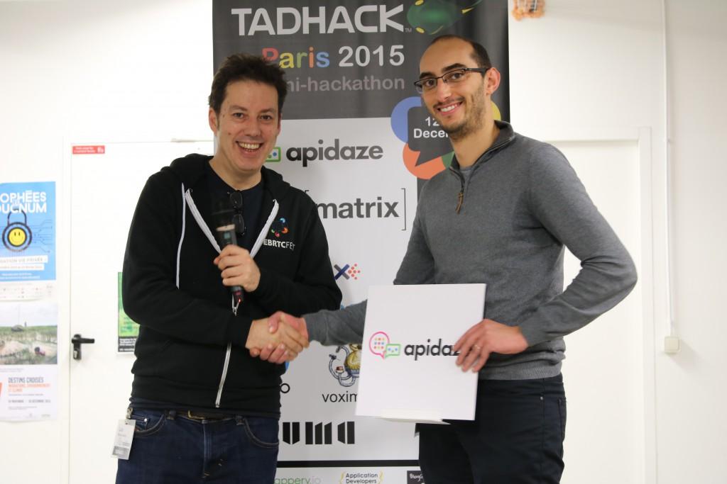 Apidaze winner Tadhack-plopplip Habib BEN YAHIA
